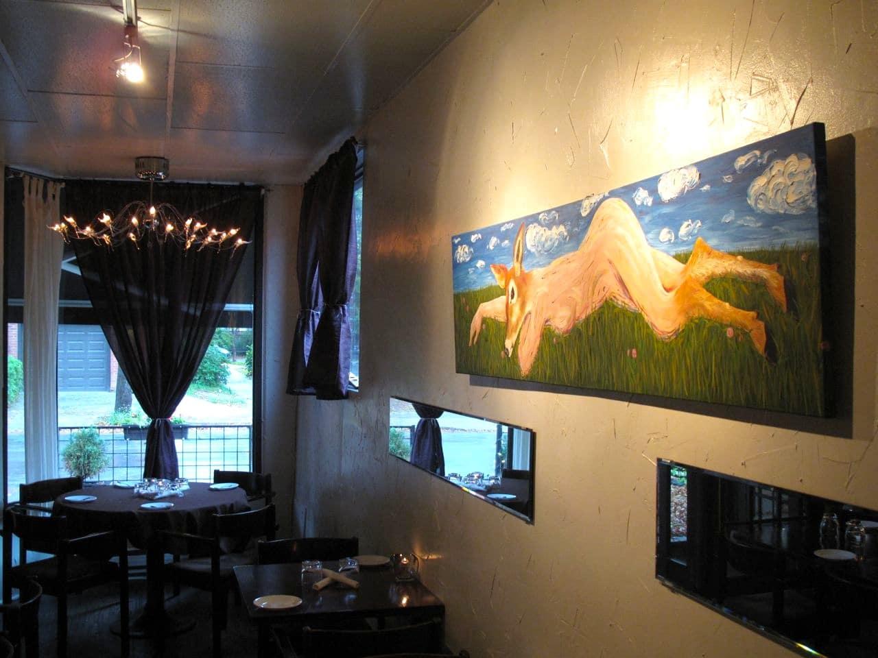 The dining room at Beast Restaurant Toronto.