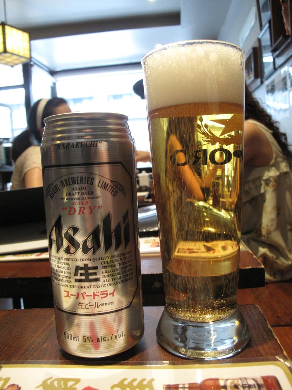 Enjoy a cold Japanese beer  with your sushi feast.