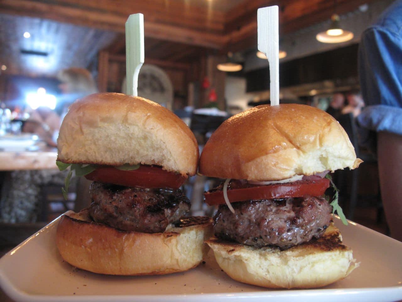 Beef Sliders at Plank Oakville.