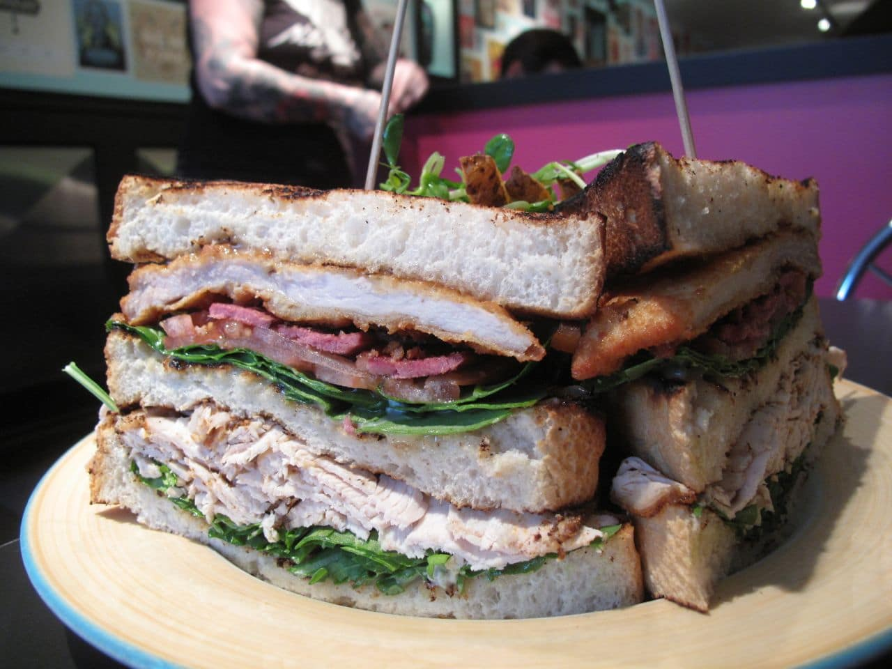 The Early Bird London's Turducken Club Sandwich.