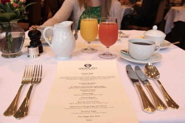 Brunch at Langdon Hall in Cambridge