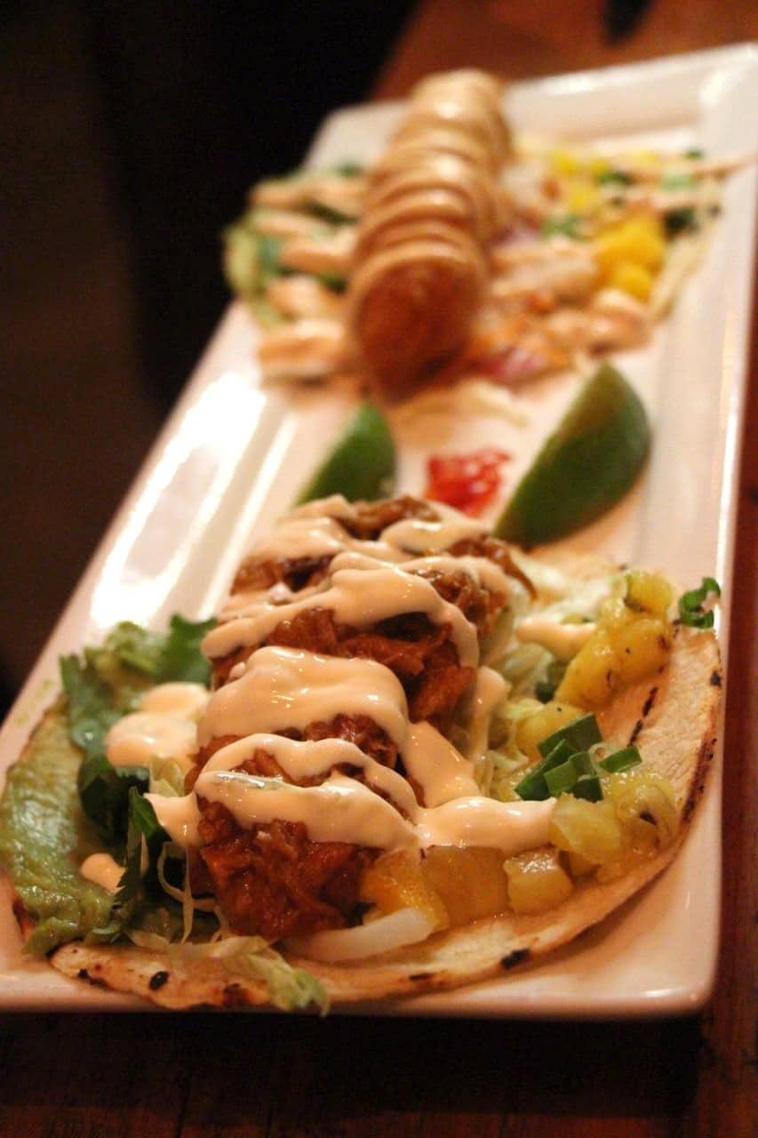 Chipotle Wild Boar Taco at Salt Wine Bar.