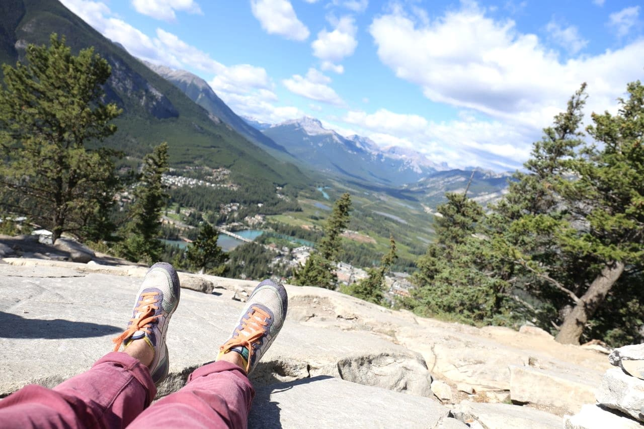 Canadian Road Trip Must-Do: Hike scenic nature trails in Banff.