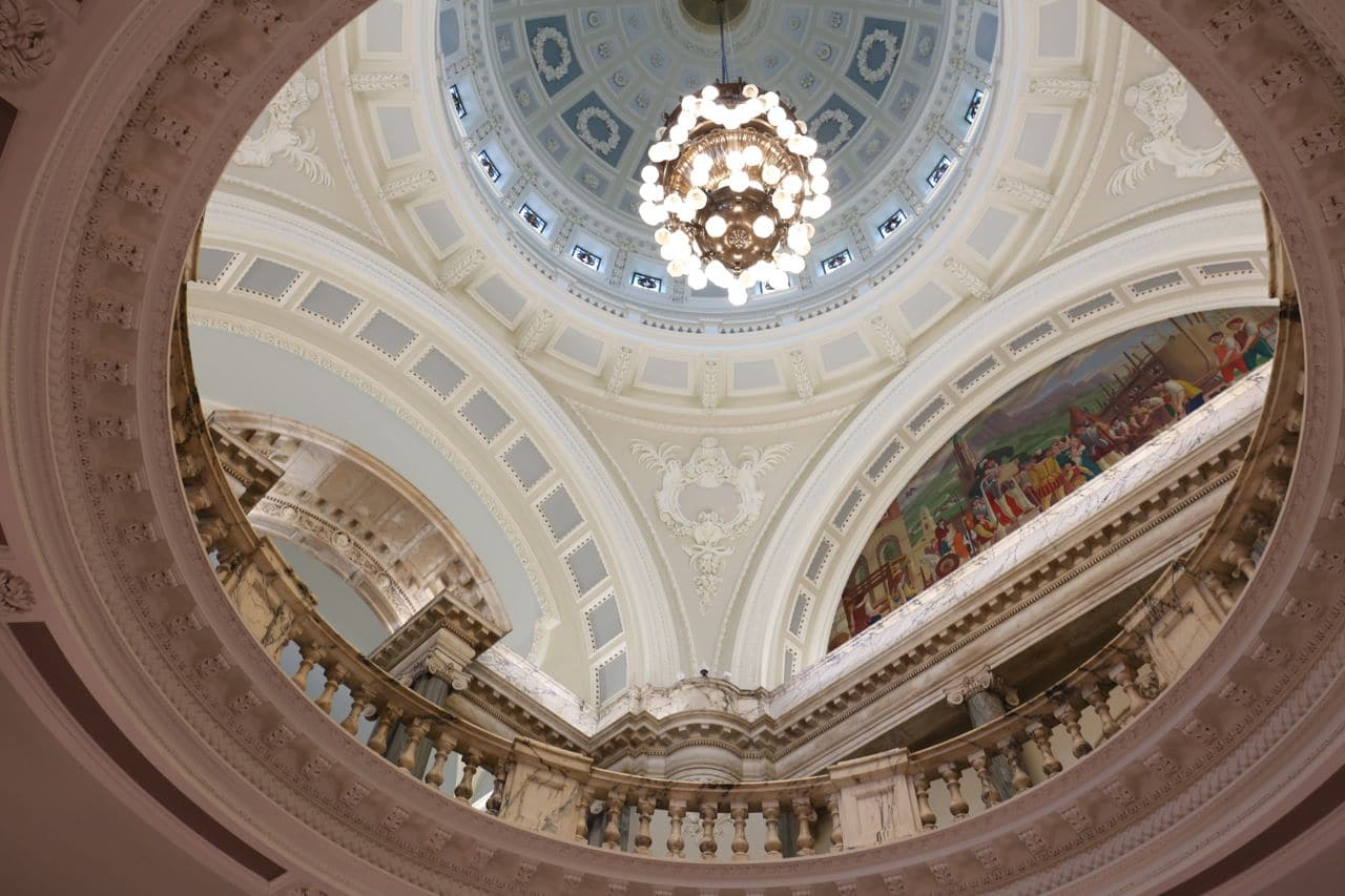 Architecture and design buffs swoon for the interiors at Belfast City Hall.