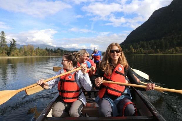 Salmon Run and Houseboat Fun in Shuswap British Columbia