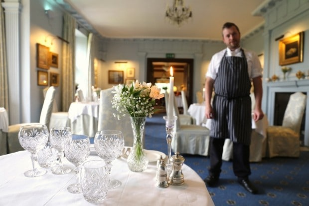 The Restaurant at Llangoed Hall in Wales