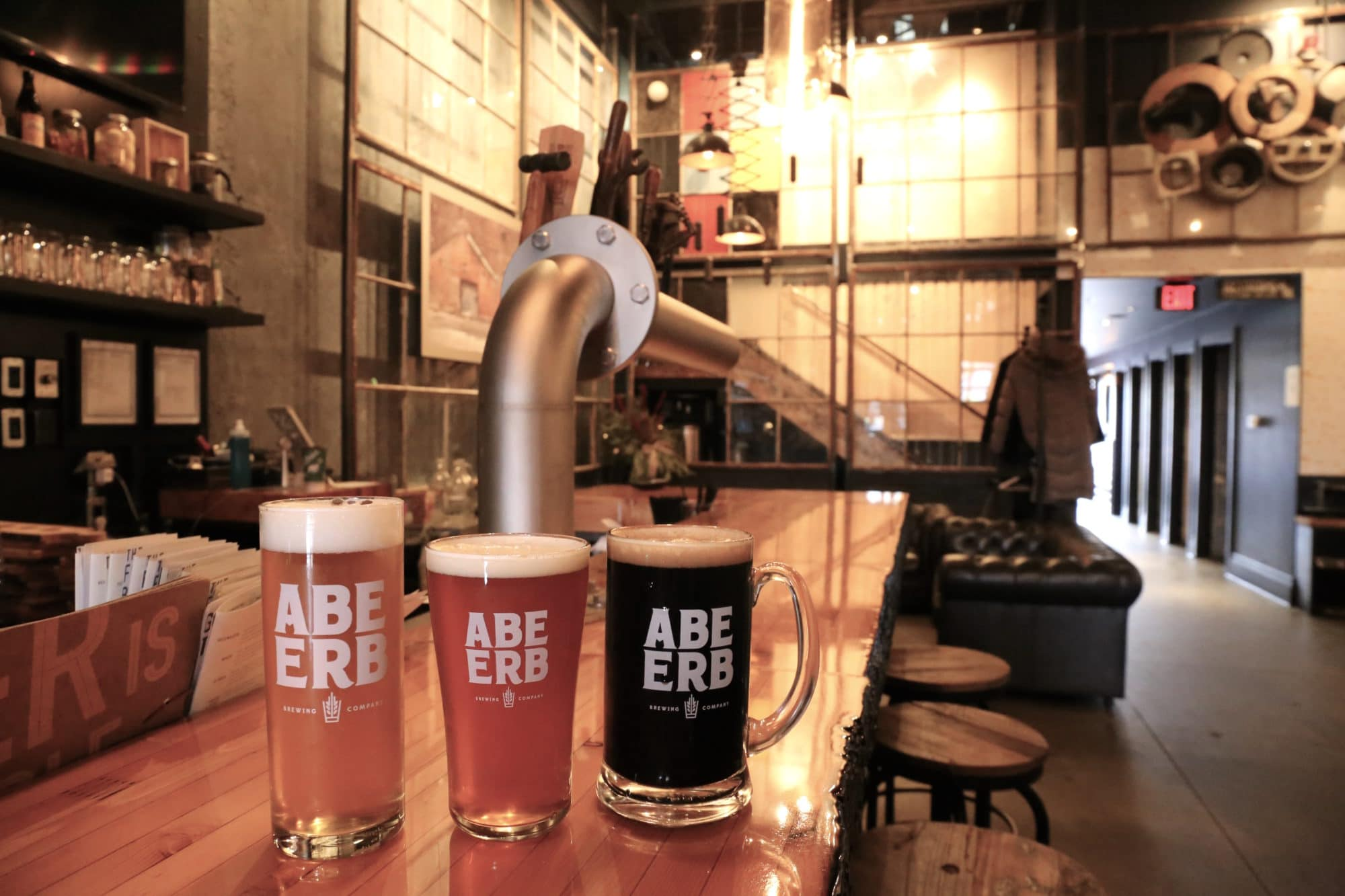Enjoy a craft beer sampling at Abe Erb Waterloo's brewery and restaurant.