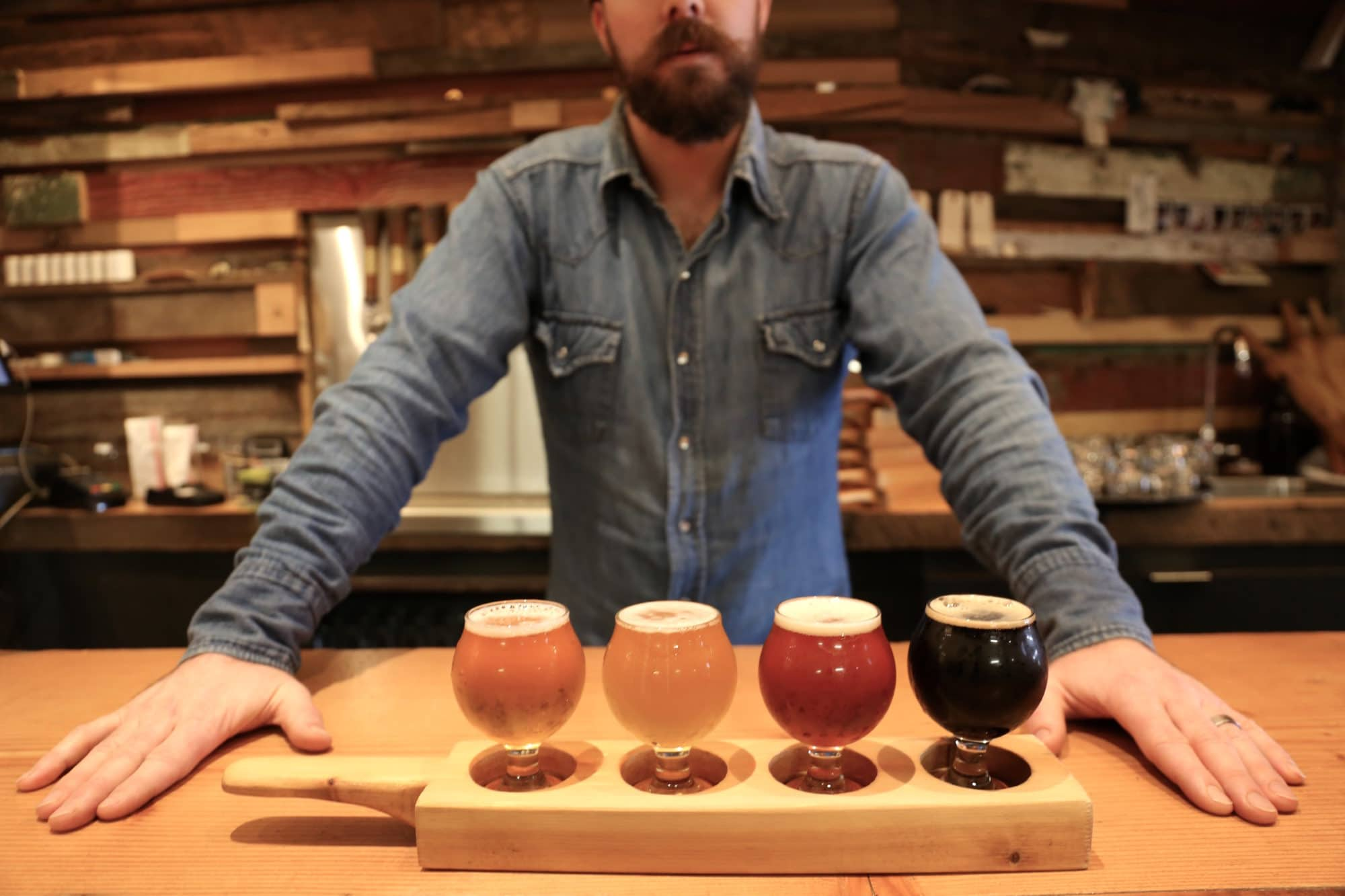 Hop up at the bar at Vancouver's Brassneck Brewing.