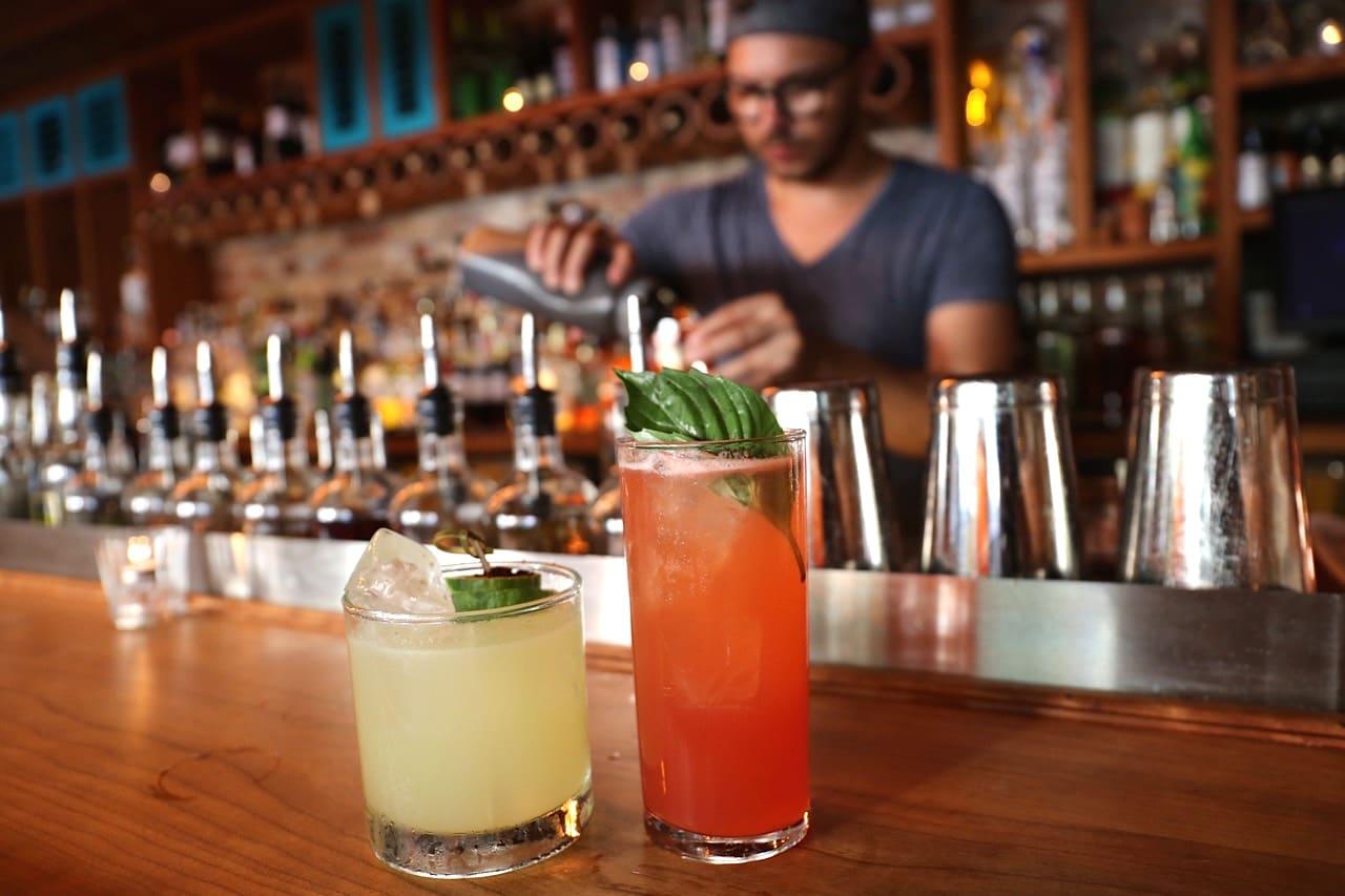 Mezcal muddled cocktails at El Rey Toronto's Mexican bar.