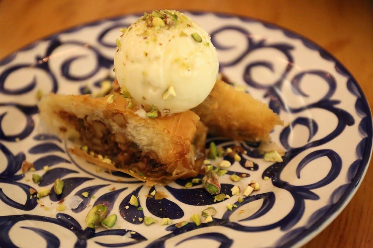 Greek Baklava for dessert at Mamakas Taverna.