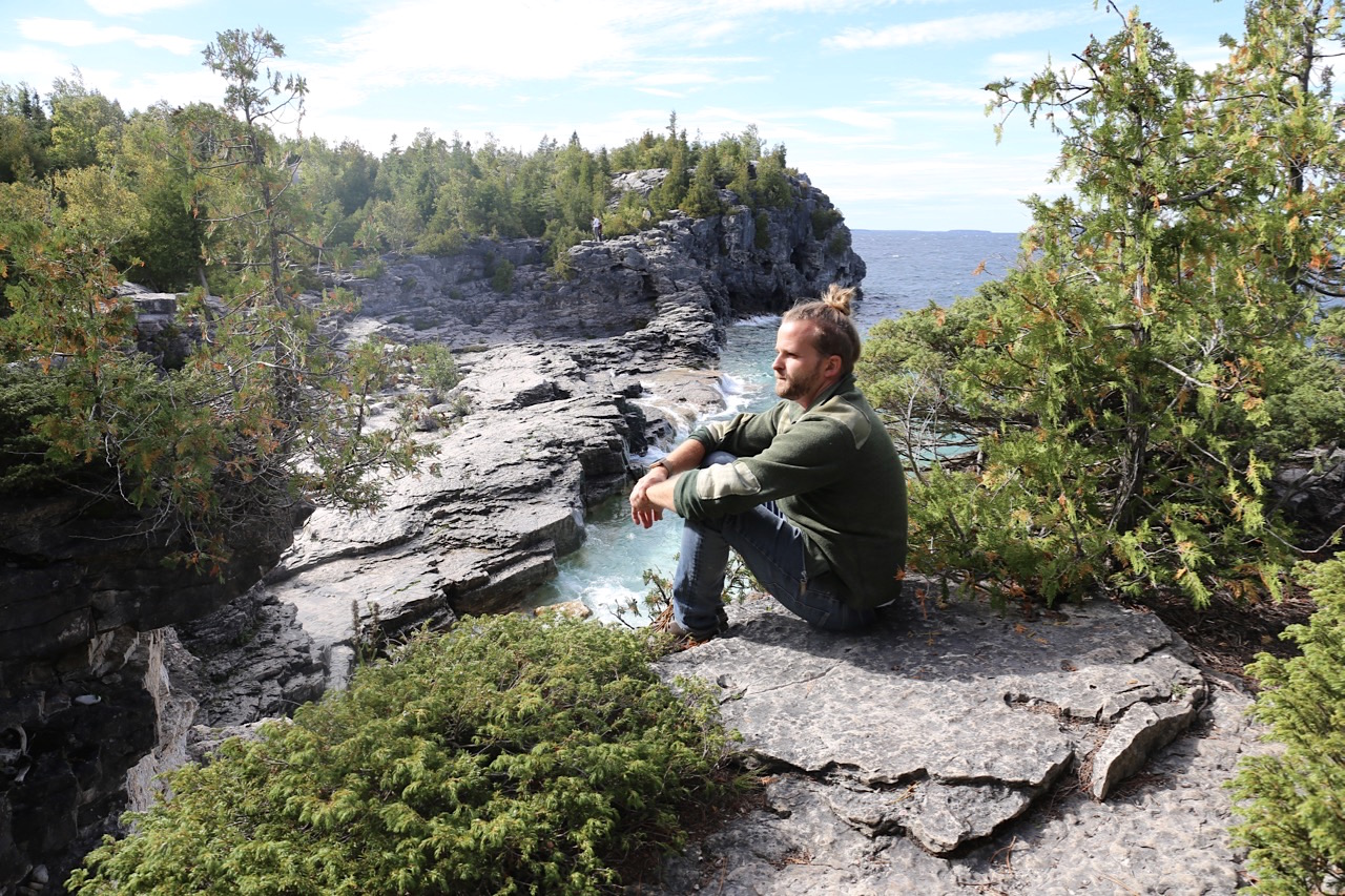 Canadian Road Trip Must-Do: Enjoy Tobermory's hiking trails along Georgian Bay.