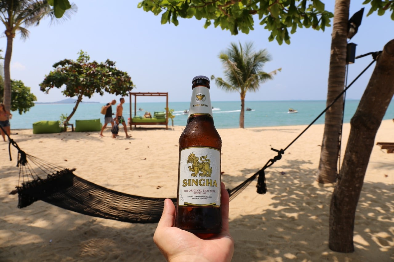 Singha Beer Is Thailand S Go To Brew Adorned With A Powerful Mythological Lion Found In Ancient Indian Hindu And Thai Stories The Ice Cold Lager Is Best