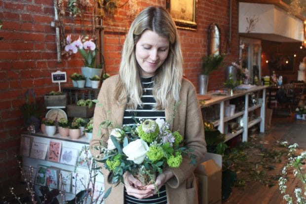 Toronto Florist Allison Westlake at Coriander Girl in Parkdale.