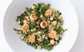 Kale Salad with Falafel Croutons and Sumac Vinaigrette - 1