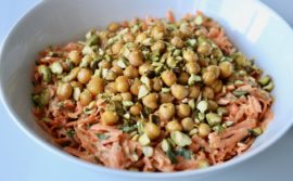 Carrot and Tahini Salad with Crispy Chickpeas and Pistachios - 1