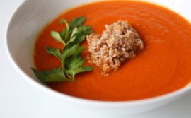 Piri Piri Carrot and Sweet Pepper Soup with Bulgar - 1