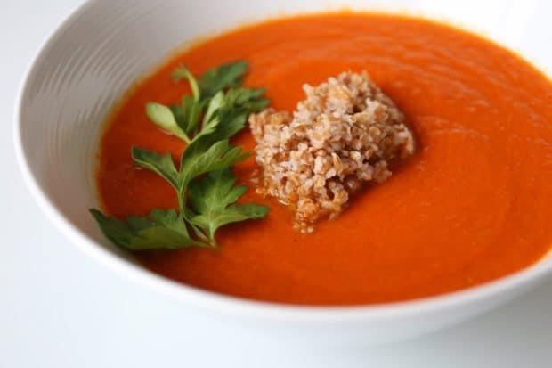Piri Piri Carrot and Sweet Pepper Soup with Bulgar