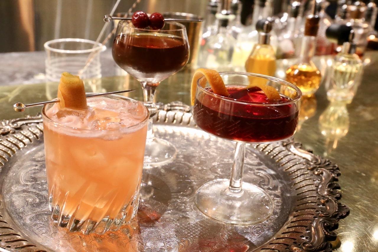 Craft cocktails at Riviera Restaurant Ottawa.