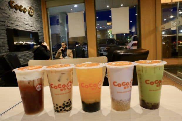 Markham Restaurants: a choir of bubble tea at Coco Fresh