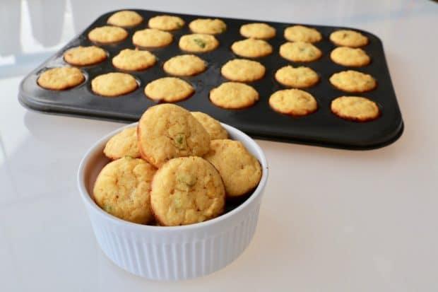 Spicy Jalapeno Cheddar Cornbread Muffins