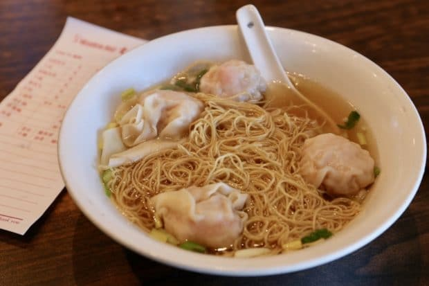 Markham Restaurants: dumpling noodle soup at Wonton Hut.
