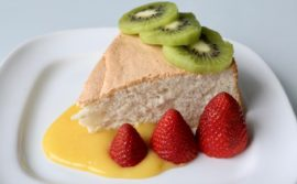 Angel Food Cake with Lemon Curd - 1