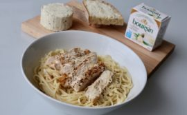 Garlic Boursin and Lemon Linguini with Grilled Chicken and Gruyere - 1