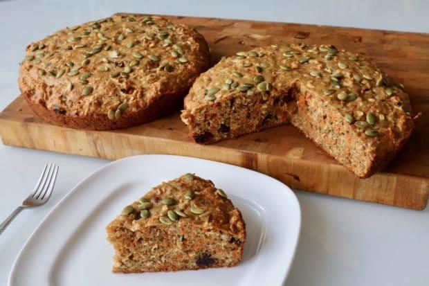 Freshly baked healthy Morning Glory Bread.