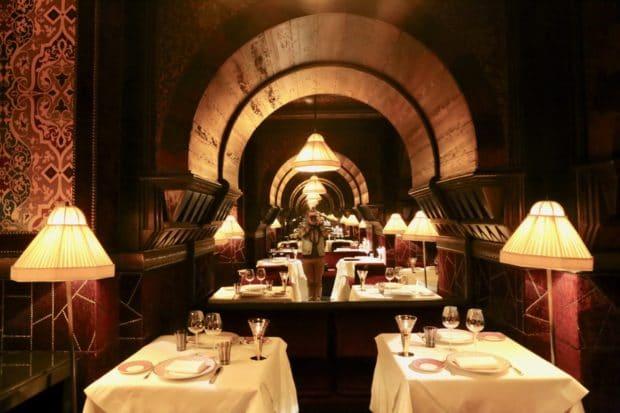 L'Italien Restaurant at  La Mamounia Hotel in Marrakech
