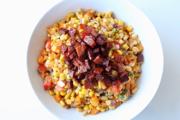 Cajun Spicy Chorizo Corn Salad
