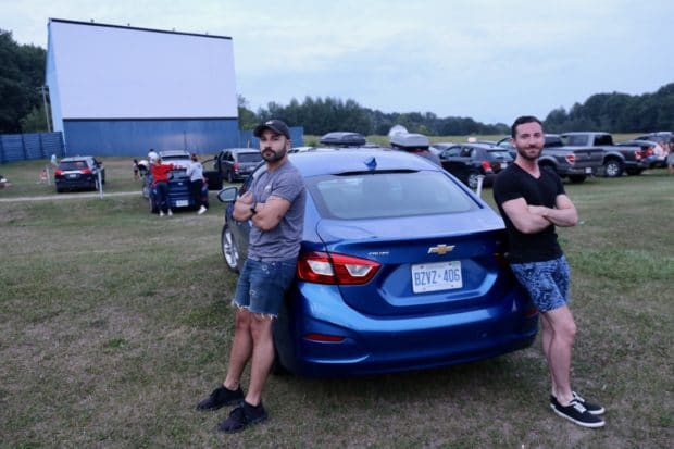 Wasaga Beach Camping Attractions: drive to Midland to enjoy a film under the stars.