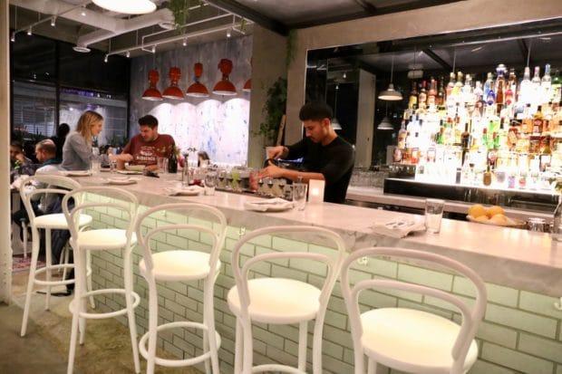 The cocktail bar at Rosalinda Toronto