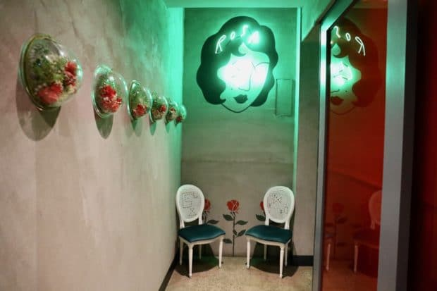 Rosalinda Toronto Neon Bathroom