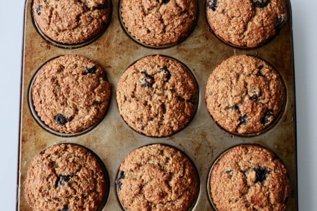 How To Make Healthy High Fiber Blueberry Banana Muffins
