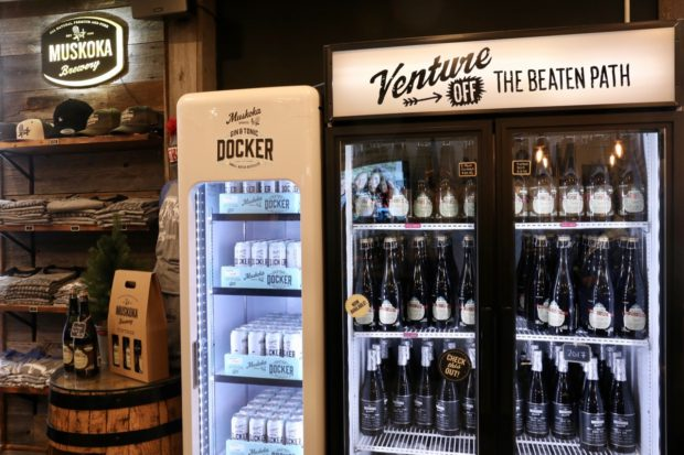 Speciality craft beer at Muskoka Brewery's retail store.