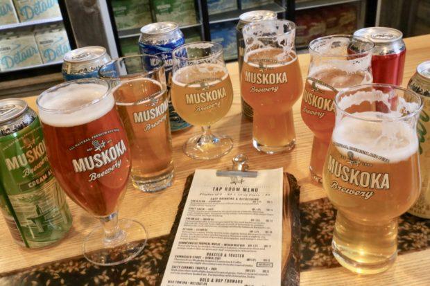 Enjoy a craft beer tasting at Muskoka Brewery's Tap Room.