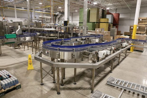 The canning and bottling line at Muskoka Brewery.