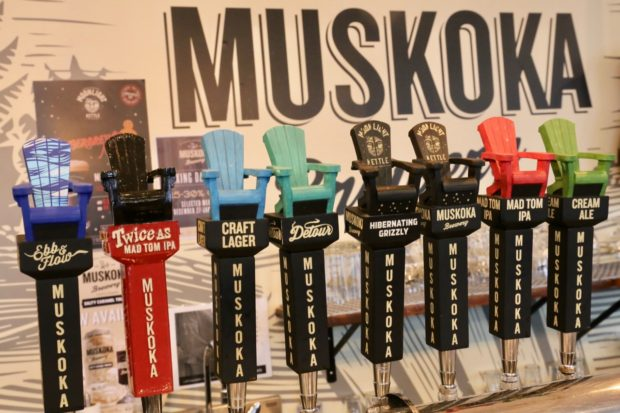 The Tap Room at Muskoka Brewery.