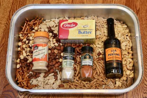 Nuts and Bolts Recipe sauce ingredients.