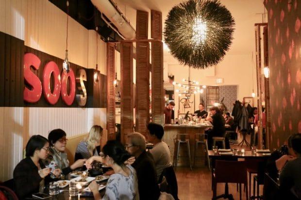 Soos Toronto dining room