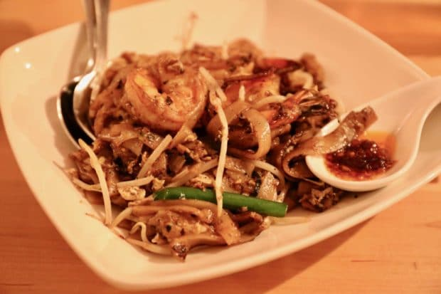 A spicy bowl of Char Kway Teow hits the spot at this trendy Ossington restaurant.