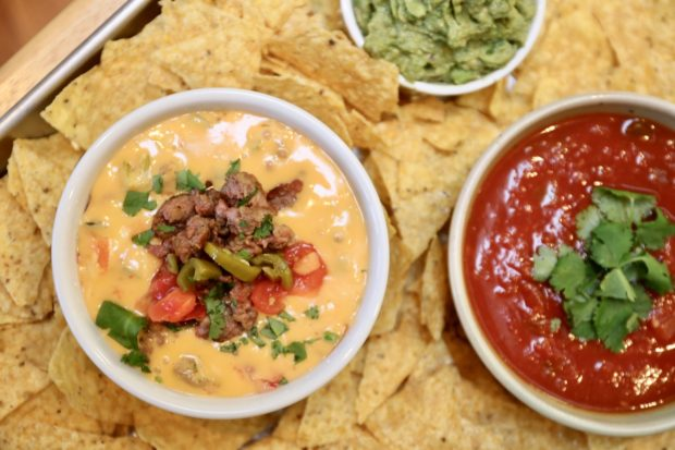 Spicy Sausage Velveeta Cheese Dip offers a nice kick!