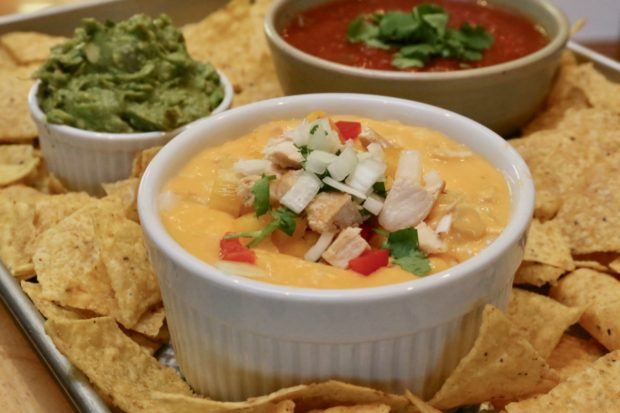 Fajita Velveeta Cheese Dip is a great way to use up leftover chicken in your fridge.