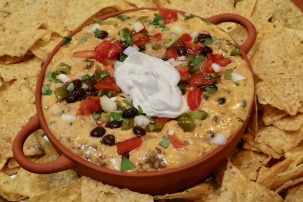 Loaded Cowboy Velveeta Cheese Dip is our favourite Mexican Queso.