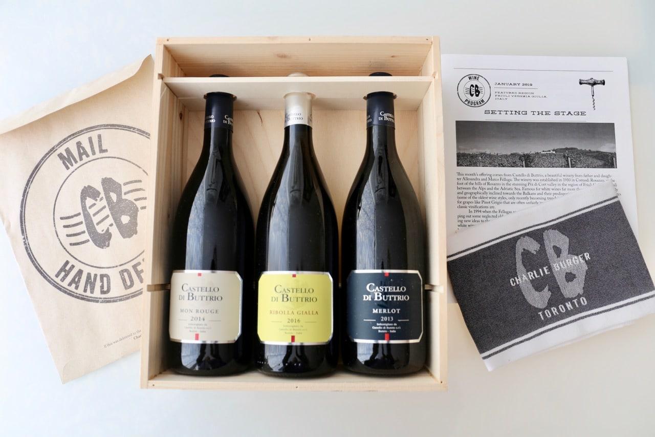 Toronto Gift Baskets: Charlie's Burgers Wine Program
