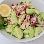 A crunchy bowl of Chinese Cucumber Salad.