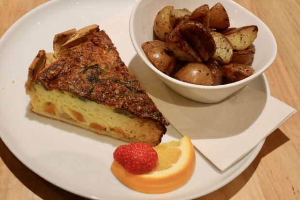 Enjoy a slice of quiche at this all-day breakfast in Toronto.