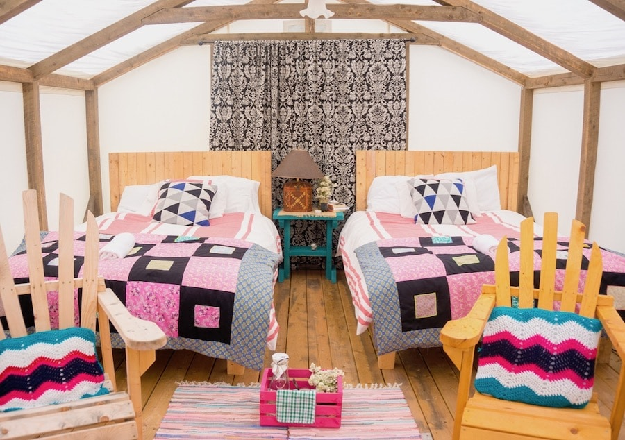 Gabby Peyton goes glamping at Ome Sweet Ome.