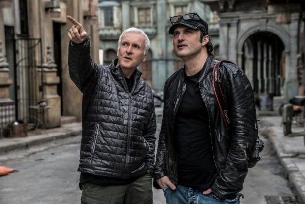 Alita: Battle Angel James Cameron and Director Robert Rodriguez