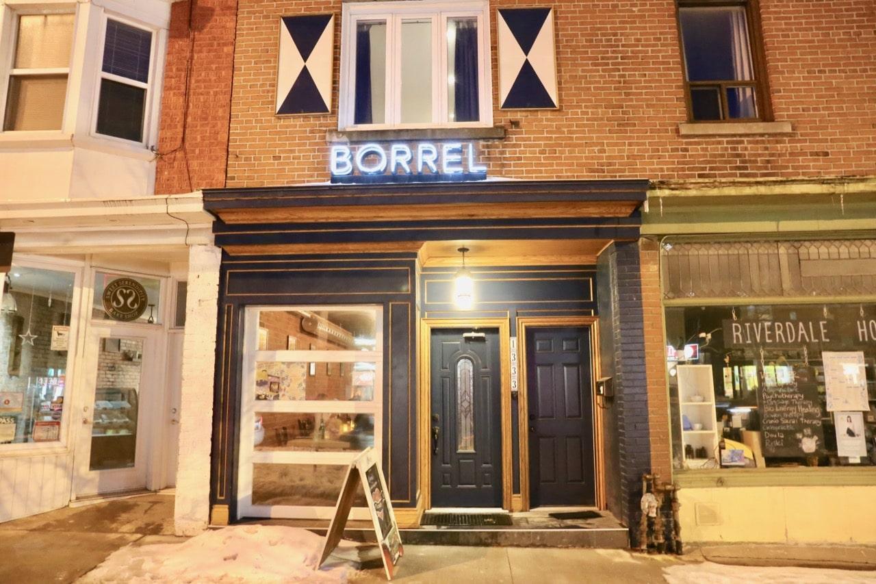 Borrel Restaurant on Toronto's Danforth Avenue.